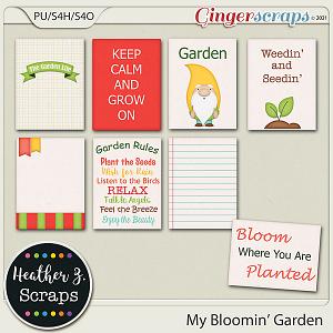 My Bloomin' Garden JOURNAL CARDS by Heather Z Scraps