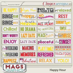 Happy Hour TAGS by MagsGraphics