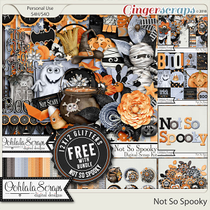 Not So Spooky Digital Scrapbook Bundle