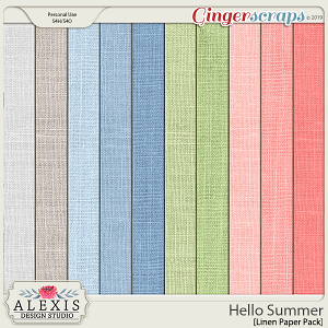 Hello Summer - Linen Paper Pack