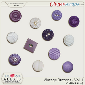 Vintage Buttons Vol. 1 - CU by Alexis Design Studio