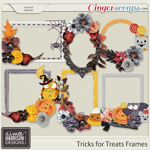 Tricks for Treats Frame Clusters by Aimee Harrison