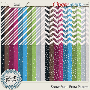 Snow Fun - Extra Papers  by CathyK Designs