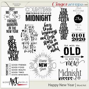 Happy New Year Word Art