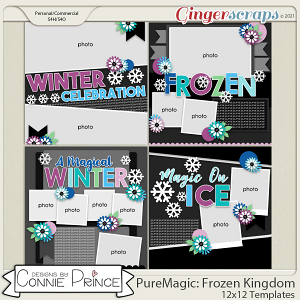 PureMagic: Frozen Kingdom - 12x12 Templates (CU Ok) by Connie Prince