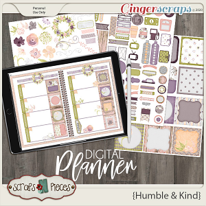 Humble and Kind Planner Pieces - Scraps N Pieces