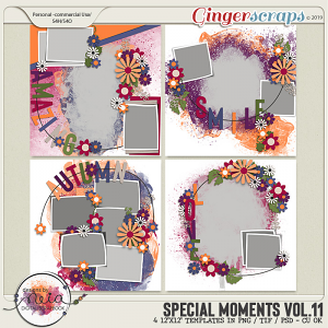 Special Moments- VOL.11 - Templates - by Neia Scraps