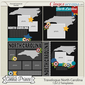 Travelogue North Carolina - 12x12 Temps (CU Ok)