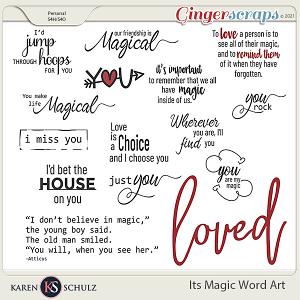 It's Magic Word Art by Karen Schulz