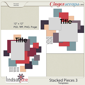 Stacked Pieces 3 Templates by Lindsay Jane