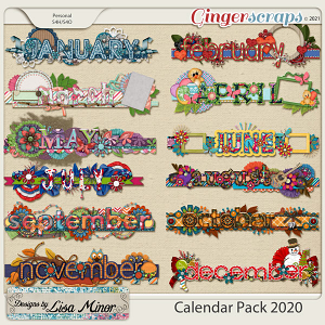 Calendar Pack 2020 from Designs by Lisa Minor