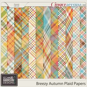 Breezy Autumn Plaid Papers by Aimee Harrison
