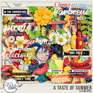 A Taste of Summer - Elements - by Neia Scraps