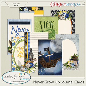 Never Grow Up Journal Cards