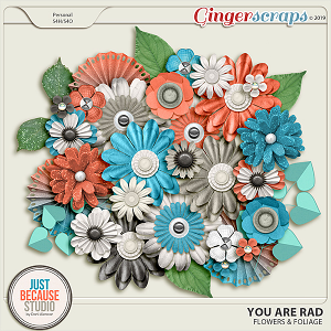 You Are Rad Flowers & Foliage by JB Studio