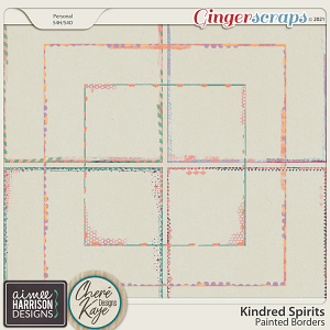 Kindred Spirits Painted Borders by Aimee Harrison and Chere Kaye Designs