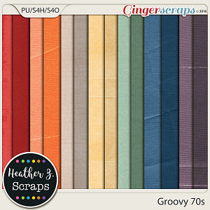 Groovy 70s SOLID PAPERS by Heather Z Scraps