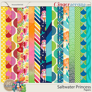 Saltwater Princess Papers by JoCee Designs