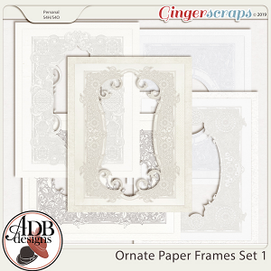 Heritage Resource - Ornate Frames Set 1 by ADB Designs
