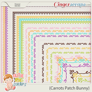 Carrots Patch Bunny Page Borders