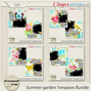 Summer Garden Templates Bundle
