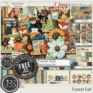 Forest Fall Digital Scrapbook Bundle