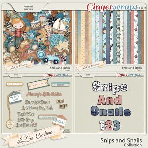 Snips and Snails Collection by LouCee Creations