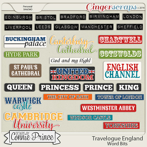 Travelogue England - Word Bits