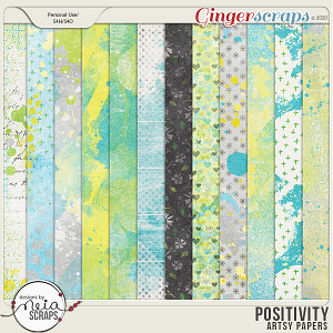 Positivity - Artsy Papers - by Neia Scraps