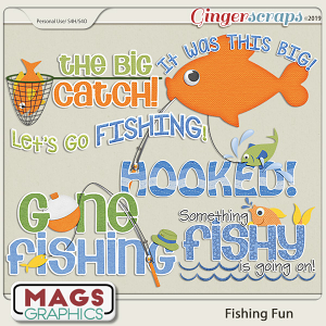 Fishing Fun WORD ART by MagsGraphics