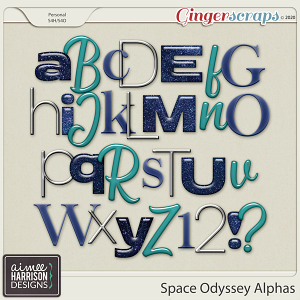 Space Odyssey Alpha Sets by Aimee Harrison