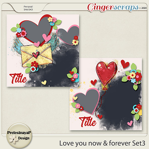 Love you Now & Forever Templates Set3