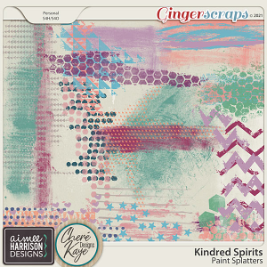 Kindred Spirits Paint Splatters by Aimee Harrison and Chere Kaye Designs