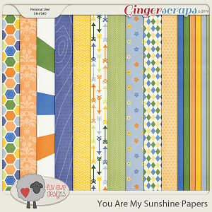 You Are My Sunshine Papers by Luv Ewe Designs