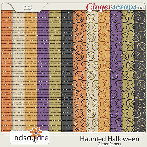 Haunted Halloween Glitter Papers by Lindsay Jane
