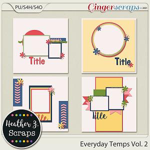 Everyday Templates VOLUME 2 by Heather Z Scraps