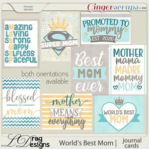 World's Best Mom: Journal Cards by LDragDesigns