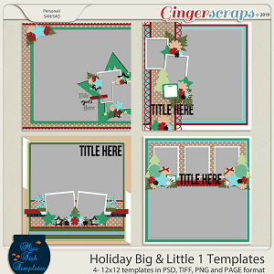 Holiday Big & Little 1 Templates by Miss Fish