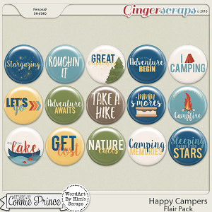 Happy Campers - Flair Pack