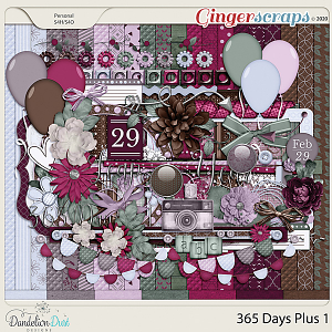 365 Days Plus 1 Digital Scrapbook Kit by Dandelion Dust Designs