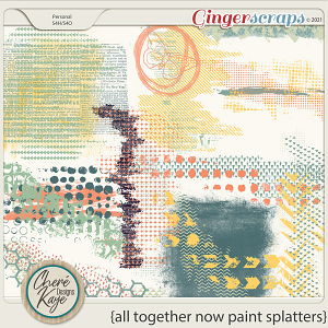 All Together Now Paint Splatters by Chere Kaye Designs