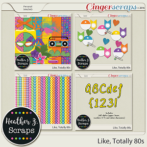 Like Totally 80s ADD-ONS by Heather Z Scraps