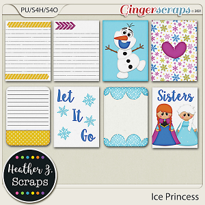Ice Princess JOURNAL CARDS by Heather Z Scraps