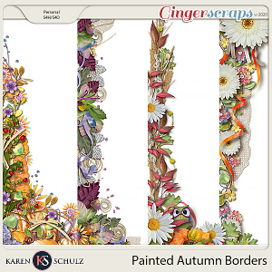 Painted Autumn Borders By Karen Schulz