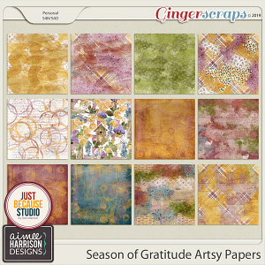 Season of Gratitude Artsy Papers by Aimee Harrison and JB Studio