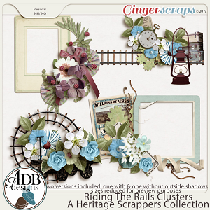 Riding the Rails Clusters by ADB Designs
