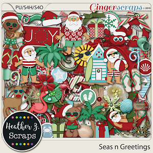 Seas n Greetings ELEMENTS by Heather Z Scraps