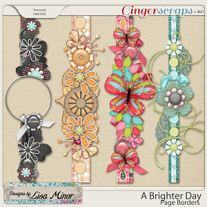 A Brighter Day Page Borders from Designs by Lisa Minor