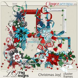 Christmas Joy: Cluster Frames by LDragDesigns