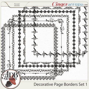 Heritage Resource Decorative Page Borders Set 01 by ADB Designs